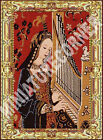 Dolls House Tapestry Printed Canvas Picture Wall Hanging Miniature 1/12th #204