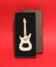 Electric Guitar Bottle Opener Pop Rock Country Band Musician Gift BOXED White