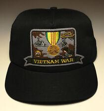 Mens Trucker Hat Cap Vietnam War, Black, Adjustable size