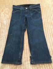 Authentic Juicy Couture Jeans Blue Denim Cropped Capris Casual Pants - Size 27