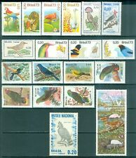 BRAZIL : Bird Topical. Nice group of all VF, Mint OG LH singles & Complete sets.