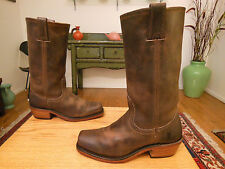 Vtg FRYE Women's Cavalry Smoke Brown Leather Boots Style #77410   USA   6M