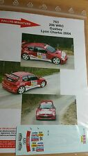DÉCALS Promo 1/43 réf 763 Peugeot 206 wrc Guebey Lyon Charbo 2004