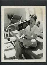 JACKIE COOPER WITH A GRAFLEX CAMERA - 1938 CANDID - FORMER LITTLE RASCAL