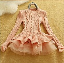 Celeb Dolls House of CB boutique Cable Knit Tutu Jumper Size 6 8 10 Available