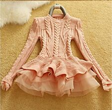 Celeb Dolls House of CB boutique Cable Knit Tutu Jumper Size 6 8 10 12 Available