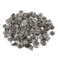 50 Set Metall Kein Naehen Druckknoepfen Tasten Druckknopf Popper 10mm ET