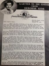 59101 1950 Article Actor Film Star Deborah Kerr King Solomon's Mines Writes