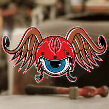 Flying tête casquée autocollant sticker autocollante Eye old school hot rod 150mm