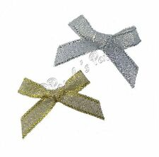 7mm Satin Mini Ribbon Bows 30pk 50pk or 100pk 26 Colours