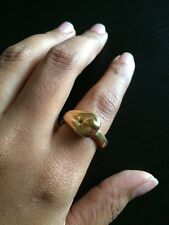 Uno De 50 Statement Ring - Sz M 6 -  NWT - Threading - Gold Collection