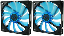 2 x GELID Solutions Wing 14 UV Blue 140mm Ultraviolet Reactive Quiet Case Fans