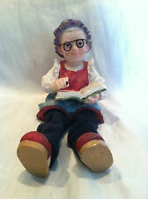 Resin Elderly Lady reading book Figure