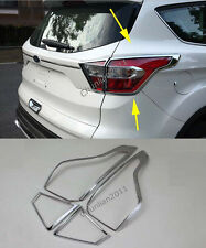 Chrome Rear light Tail light lamp cover trim for 2017 Ford Escape Kuga abs