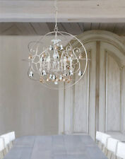 Silver Modern Gold Crystal Restoration Hardware Replica Orb Chandelier $2300
