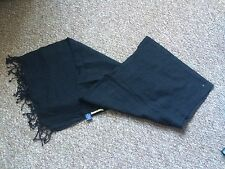 Black Wool Scarf with Tassels Great Condition