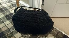 Unique bowler type black bag - fluffy - nights out?