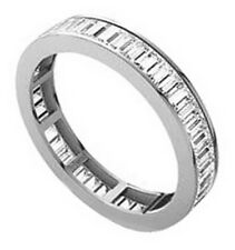 0.75carat Baguette Cut Diamonds Full Eternity Wedding Ring in White Gold