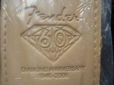 Fender Tan 60th Diamond Anniversary Guitar Strap & 15 FREE FENDER   GUITAR PICKS