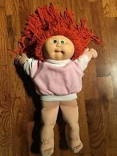 1984 Cabbage Patch Doll W/ Red Hair & CPK Shirt