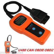 U480 CAN OBDII OBD2 Car Diagnostic Scanner Tool Auto Engine Fault Code Reader