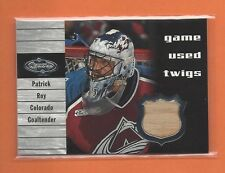 2000-01 UPPER DECK HEROES PATRICK ROY GAME-USED STICK #T-PR COLORADO AVALANCHE