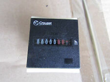Crouzet 7 Digit Mechanical Counter 42-48 Vac CHM48 Series Hour Counter H77259694