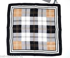 ALEXANDER McQUEEN SILK CHECK POCKET SQUARE HANDKERCHIEF BNWT