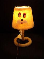 Lampe à Poser Peluche Années 70' 80' Vintage  34 cm de Haut  // Kitch
