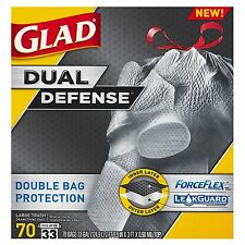 Glad ForceFlex Extra Large & Strong Trash Bags - 33 gal - 70 ct. Garbage Liner