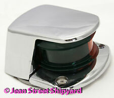Marine Boat Bi Color Bow Navigation Light Red Green Lenses Seachoice 04981