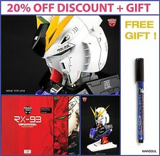 NEW DISCOUNT RX-93 Nu V Gundam Head Model Kit Magic Toys 1/35 with LED + sticker