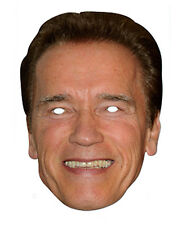 Arnold Schwarzenegger 2D Card Party Face Mask Fancy Dress Up Hollywood Actor