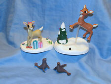 Rudolph The Red Nosed Reindeer Light Up & Clarice Memory Lane Figure Set