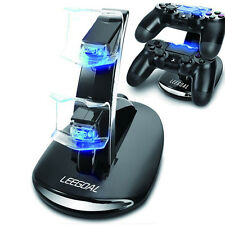 Dual USB Charging Charger Docking Station Stand for PS4 Controller(Black)