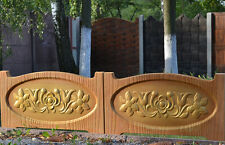 OLD WOOD BOARD FLOWERS  MOLDS PLASTIC MOLD EDGE STONE CONCRETE FENCE