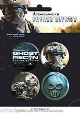 GHOST RECON FUTURE SOLDIER SPILLA SPILLE UFFICIALI BUTTON BADGE PACK BP0281