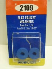 """Brass Craft FLAT FAUCET WASHERS, TRADE SIZE: 1/4L, O.D. 19/32"""", BLUE, SC2109"""