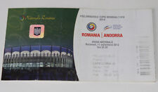 Ticket for collectors World Cup q * Romania Andorra 2012 in Bucarest