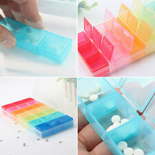 7Day Weekly Tablet Pill Medicine Box Holder Storage Organizer Container Case ..