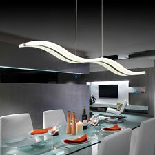 40W LED Acrylic Chrome Pendant Light Ceiling Lamp Chandelier Wave Shape Lighting