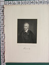 1844 DATED ANTIQUE PRINT ~ DUDLEY RYDER ~ EARL OF HARROWBY