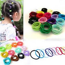 100pcs Elastic Rope Ring Hairband Fashion Women Girls Hair Ties Ponytail Holder