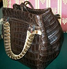 2010 $7100 MALO ALLIGATOR LEATHER BAG USED 1 TIME ONLY STILL HAS ORIGINAL TAGS