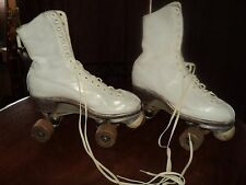 Vintage Betty Lytle Hyde Chicago Leather White Roller Skate Co. Size #5 Ladies