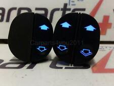 FIESTA MK6 MK7 / TRANSIT BLUE LED ONE TOUCH WINDOW SWITCH SET + FREE UK POSTAGE