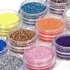 18 Colores Brillo En Polvo Manicura Gel acrílico UV Decoración Uñas Conjunto RU