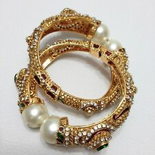 Indian Bollywood Style Peacock Polki Bangles Size: ( 2.4 )