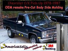 1978-1987 CHEVROLET C/K TRUCK CHROME CUSTOM BODY SIDE MOLDING GM