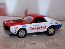 1969 69 AMC AMX DRAG-ON-LADY SHIRLEY SHAHAN 1/64 SCALE COLLECTIBLE DIORAMA MODEL